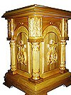 Church furniture: Dormition carved