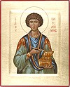 Religious icons: Holy Great Martyr and Healer Pantheleimon