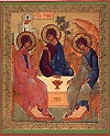 Religious Orthodox icon: Holy Trinity - 2