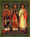 Religious Orthodox icon: Holy Martyrs Gourius, Samon and Abib