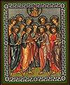 Religious Orthodox icon: Synaxis of the Twelve Apostles