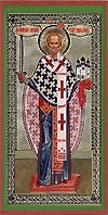 Religious Orthodox icon: Holy Hierarch Nicholas the Wonderworker of Mozhajsk - 3