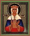 Religious Orthodox icon: Holy Martyr Princess Ludmila of Czech