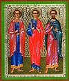 Religious Orthodox icon: Holy Martyrs Inna, Pinna and Rimma