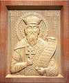Carved icon: of Holy Great Prince Vladimir Equal-to-the-Apostles