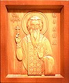 Carved icon: of Holy Hosiomartyr Vadim