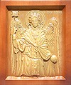 Carved icon: of Holy Archangel Gabriel