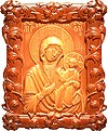 Carved icon: of the Most Holy Theotokos of Iveron