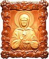 Carved icon: of Holy Blessed Matrona of Moscow
