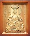 Carved icon: of Holy Great Princess Olga Equal-to-the-Apostles