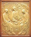 Carved icon: of the Most Holy Trinity