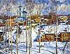 """Painting: V.I. Nesterenko """"Cheesefair"""""""