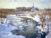 """Painting: V.I. Nesterenko """"Expectation of spring"""""""