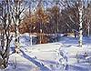 """Painting: V.I. Nesterenko """"Epiphany frosts"""""""