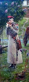 "Painting: P. Ryjenko ""The Czar's should-straps"""
