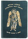 Genuine leather passport cover with Angel