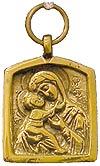 Baptismal medallion: Theotokos of Vladimir