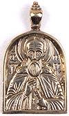Baptismal medallion: St. Sergius of Radonezh
