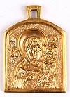 Baptismal medallion: Theotokos