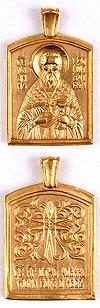 Baptismal medallion: St. John of Kronshtadt