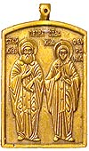 Baptismal medallion: Holy Venerable Peter and Phevronia of Murom