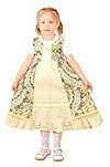Russian Style girl dress (green)