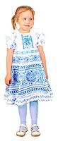Gzhel girl dress