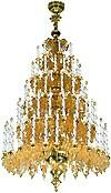 Five-level church chandelier - 1 (79 lights)