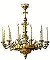 One-level church chandelier - 1 (12 lights)