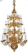 Four-level church chandelier - 1 (32 lights)