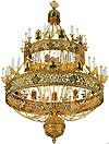 Two-level church chandelier (horos) - 2