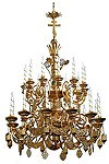 Two-level church chandelier - 1 (24 lights)