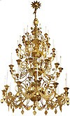 Four-level church chandelier - 3 (48 lights)