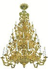 Four-level church chandelier - 4 (48 lights)
