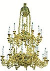 Two-level church chandelier - 10 (32 lights)