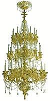 Three-level church chandelier - 5 (36 lights)