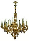 One-level church chandelier - 11 (36 lights)