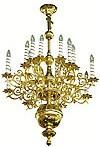 One-level church chandelier - 10 (16 lights)