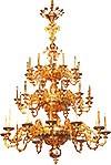 Three-level church chandelier - 8 (36 lights)