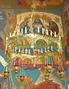 Greek Orthodox horos with 6 lampadas (30 lights)
