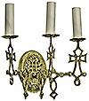 Сhurch wall lamp - 401-1 Byzantine (for 3 lights)