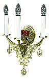 Church wall lamp - 407-1 (for 3 lights and 1 lamp)