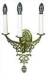 Church wall lamp - 407-2 (for 3 lights)