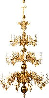Three-level church chandelier - 24 lights