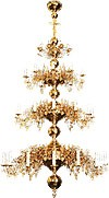 Three-level church chandelier - 36 lights