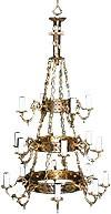 Three-level chandelier (khoros) - 3 (18 lights)