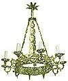 One-level church chandelier (horos) - 8 (10 lights)