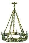 One-level church chandelier (horos) - 10 (10 lights)