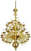 Two-level church chandelier - 14 (27 lights)