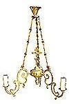 One-level church chandelier - 15 (3 lights)